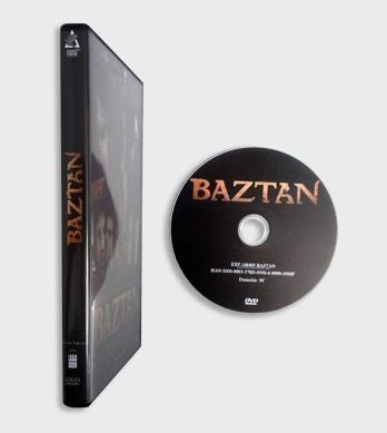 Caja DVD standard negra detalle lomo