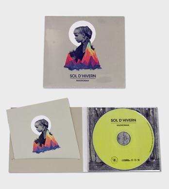 Digipack CD dos cuerpos, una bandeja y ranura para libreto