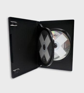 Caja DVD standard negra multisoporte