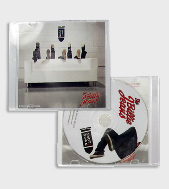 Portada y trasera de caja CD slim transparente