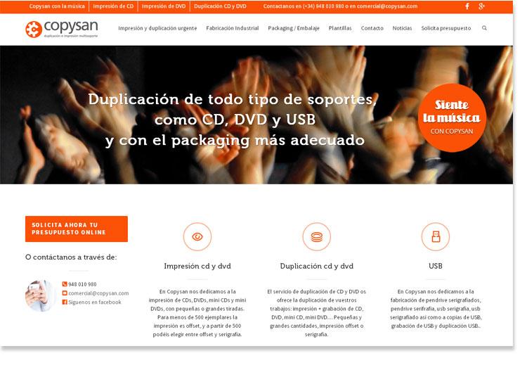Copysan - nueva web impresion cd