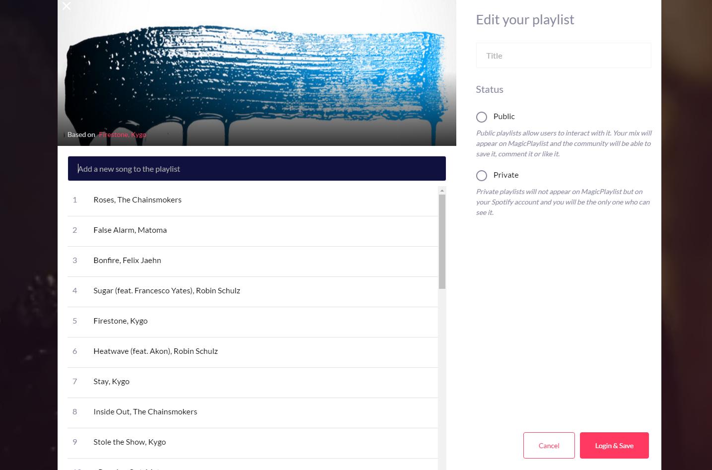 Crea playlist basadas en tus gustos en segundos3