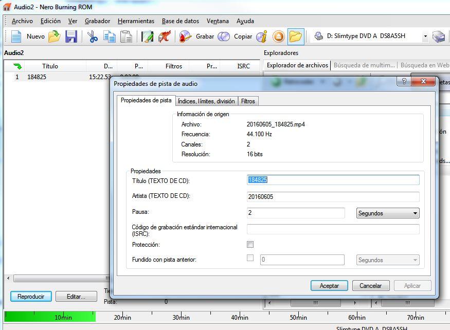 Copysan- CD de musica no tiene nombres-falta el CD text -impresion cd