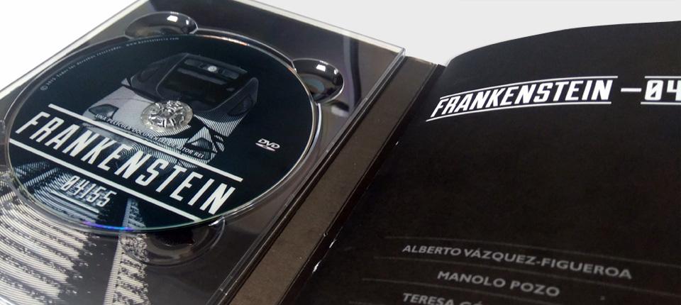 Digipack DVD Libro pegado - Frankenstein de Aitor Rei