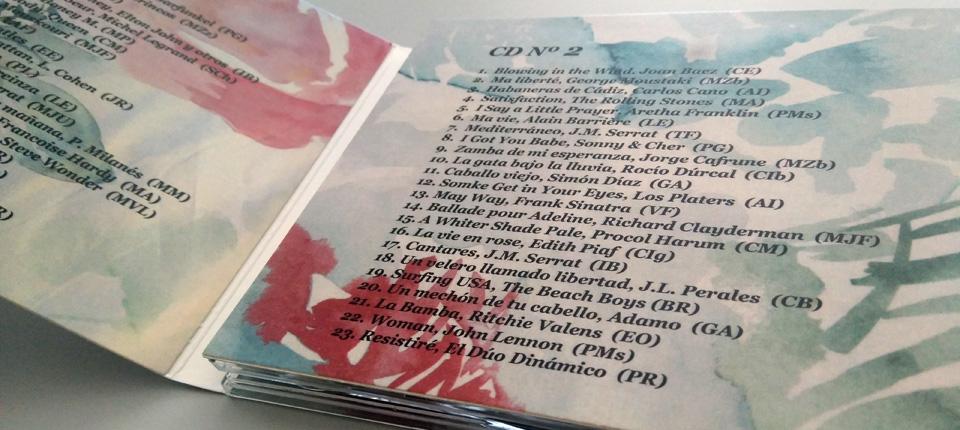 Digipack 3 cuerpos 2 bandejas - Canciones que nos gustan - 50 Aniversario Ursulinas