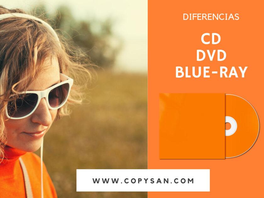 Características, usos y diferencias entre CD / DVD / BLU-RAY